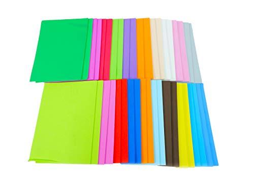 CI W1860155 - Hojas de espuma, A5, 22 x 15 x 8,5 cm, 20 colores surtidos, 40 hojas