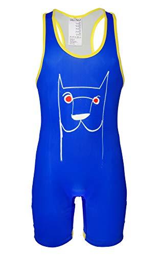 SLOTiSLUT Wrestling Singlet Sport Enger Spandex Ringeranzug blau L