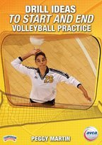 Peggy Martin:Drill Ideas to Start and End Volleyball Practice (DVD) (Volleyball-martin)