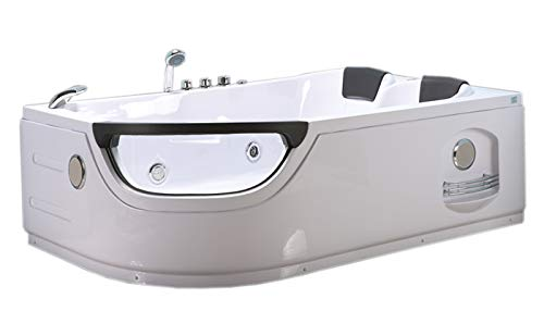 WHIRLPOOL BADEWANNE WHIRLPOOL RECHTECK 2 PERSONEN NEU SPA TUB HOT TUB BATH TUB Full Düsen, Sichtfenster, Wasserfall, Led 120x180 elite