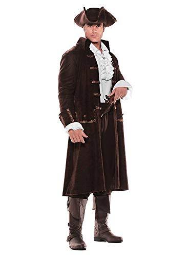 Kostüm Underwraps - Underwraps Pirat Herren Kostüm Captain Barrett, Standard, Mehrfarbig