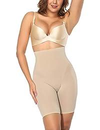 c967b093aacce Sweetlover Thigh Slimmer Women Hi-Waist Underwear Double Layer Fabric Butt  Lifter Shapewear Trainer Tummy