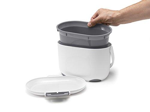 Addis Komposteimer für die Küche, 2,5 l, Weiß / Grün, weiß/grau, 2.5 ...