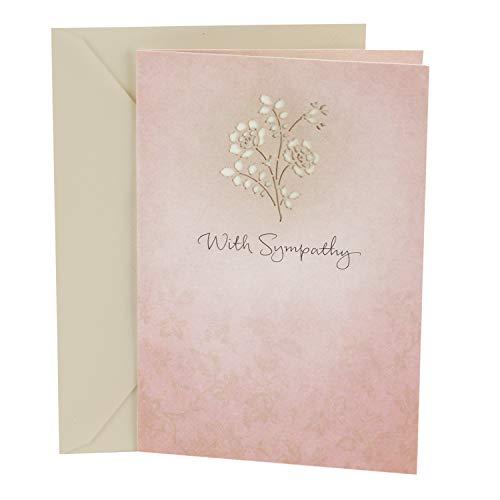 Hallmark Sympathy Greeting Card (Laser Flower)