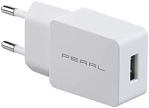 PEARL USB-Netzteil-Adapter: USB-Netzteil für Smartphone, E-Book-Reader u.v.m, 2 A / 10 W, weiß (USB-Adapter-Ladegerät)