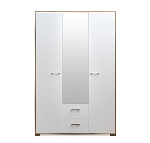 @home By Nilkamal Marilyn 3-Door Wardrobe (Glossy Finish, Oak and White)  available at amazon for Rs.22900