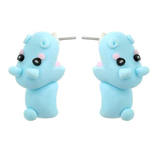 YueLian 1 Paar Handgemachter Tier Ohrringe Frauen Mädchen Tiere Fimo Ohrstecker Weiche Keramik Ohrringe Tier Zubehör