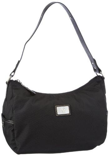 Bogner Leather Elba Savia 2 0493805, Borsa a spalla donna, 30x25x15 cm (L x A x P) Nero (Schwarz (black/black 008))