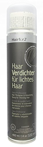 Hairfor2 Haarverdichtungsspray schwarzbraun, 1er Pack (1 x 400 g)