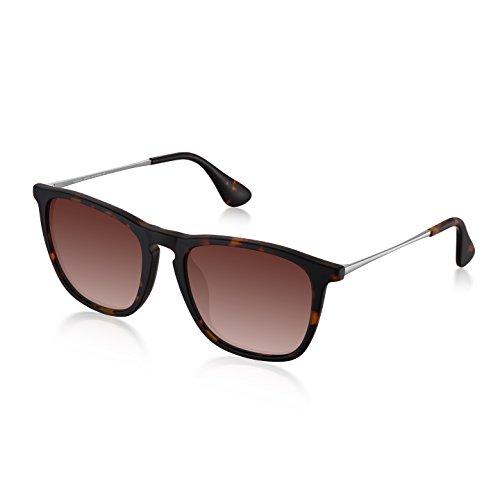 Wenlenie Polarisiert Quadrat Sonnenbrille, Unisex Leichte Sonnenbrille Herren/Damen (Sport, Farbverlauf braun)
