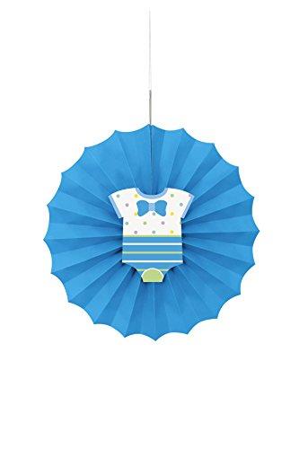Dot Boy Baby Dusche Papier Fan Dekoration ()