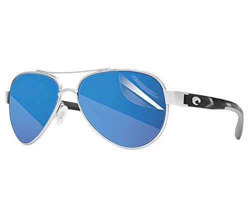 RIPCLEAR Sunglass Protectors for Costa Del Mar Loreto Sunglasses - Scratch Proof Crystal Clear - 2 pack Lens Protectors