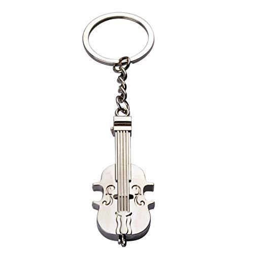 Queenbox 3D Violine Muster personalisierter Schlüsselring Schlüsselbund Schlüsselbund Edelstahl Schlüsselbund für Musik Enthusiasten Schlüsselring Künstler Geburtstag Festival Day vorhanden