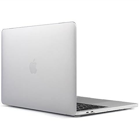 iDOO MacBook Schutzhülle / Hard Case Cover Laptop Hülle [Für 2016 MacBook Pro 13 Zoll mit Retina Display, mit/ohne Touch Bar und Touch ID: A1706 und A1708] - matt, Transparent