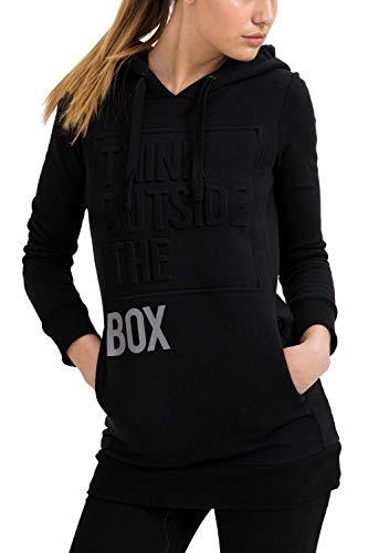trueprodigy Casual Damen Marken Sweatshirt lang mit Aufdruck, Oberteil cool und stylisch mit Kapuze (Langarm & Slim Fit), Hoodie für Frauen...
