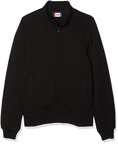 Herren Sweatjacke ohne Kapuze Zip-Jacke mit Kragen, Farbe Dunkelblau ... b4e1752119