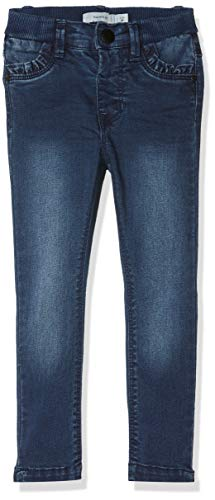 NAME IT Baby - Mädchen Jeans NMFPOLLY DNMTRILLA 3086 Pant NOOS, Blau Dark Blue Denim, 80