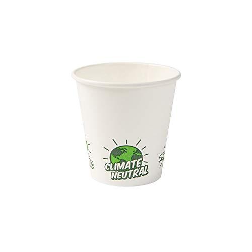 Biozoyg bicchieri di carta riciclabili bianco con icona ecoup© e rivestimento pla i 1000 caffè da asporto tazza usa e getta biodegradabile 150 ml 6 oz i tazza da caffè bicchiere monouso