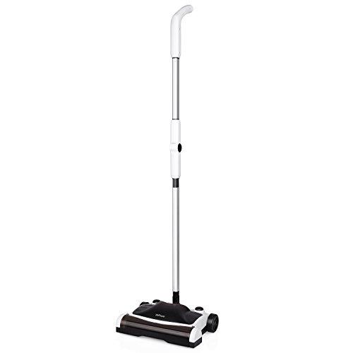 MVPower Swivel Sweeper Bodenkehrer 2 in 1 Sweep Kehrer Bodenwischer für Hartböden und Teppiche, Kabelloser Teppichkehrer Kehrmaschine 360° rotierbar (B x H x T) - 300*210*110mm