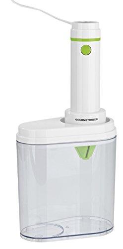 GOURMETmaxx 06203 Elektrischer Spiral-Schneider | Julienne-Schneider für Gemüsespaghetti und Obst (Karoffel, Zucchini, Gurken etc.) | Schäler | 100 Watt | Limegreen