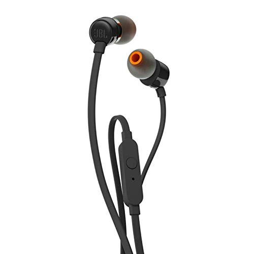 JBL T110In-Ear-Kopfhörer mit Steuerung und Mikrofon schwarz - Musik Die Kopfhörer, Spielen