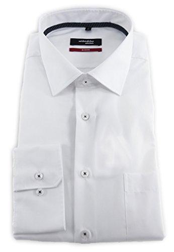Seidensticker Herren Businesshemd Modern Langarm violett uni mit Kent-Kragen  Weiß ... c01a652cb7
