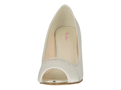 Rainbow Club Brautschuhe Chelsey Pumps Stiletto Peep Toe Ivory