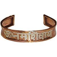 Mogul Interior Copper Bracelet Healing OM NAMAH SHIVAY Grounding Copper Magnetic Wrist Bracelet