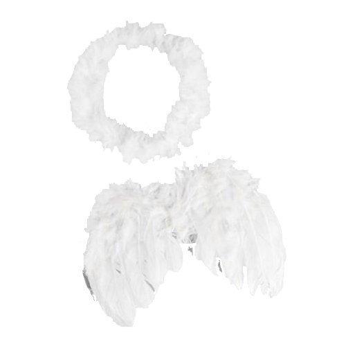 Preisvergleich Produktbild 0-6 Monate Engel Feder Flügel Baby Cupido Requisiten kostenlos Halo