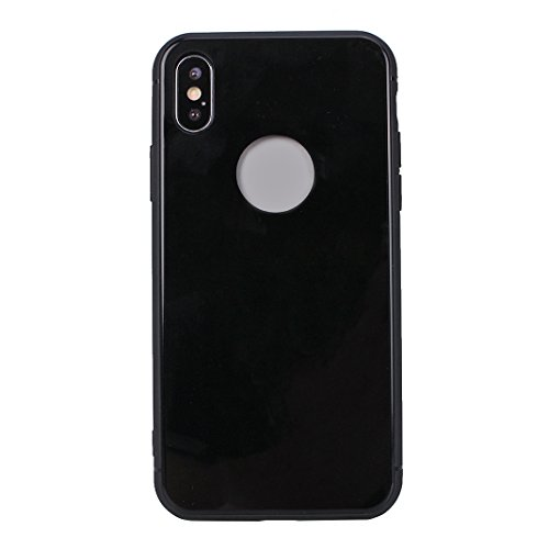iPhone X Hard Hülle, Asnlove 2 in 1 Hart PC und TPU Anti-Scratch FeinMatt FederLeicht Hülle Bumper Cover Schutz Tasche Schale Hardcase für Apple iPhone 10 / iPhone X 5.8 Zoll 2017 - Schwarz Schwarz