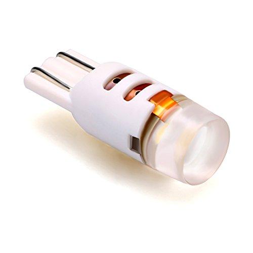 Lumiplux T10 W5W 168 194 12V 24V 6500K Blanc Pur LED Ampoule de Voiture 1X3030SMD (Pack de 2)
