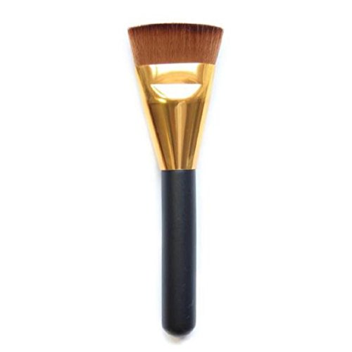 Vovotrade 1pcs professionelle Gesicht Cheeks Cosmetic flache Kontur Pinsel Gesicht Mischung Make-up Pinsel(Gold) (Mac Kontur-pinsel)
