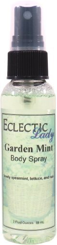 Garden Mint Body Spray, 2 ounces by Eclectic Lady (Mint Body Spray)