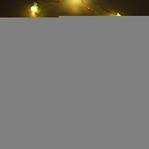 Yaeer LED-Lichterkette, warmweiß, dekorativ, Lichterkette mit 20 LEDs für Innen- und Außenbereich, Geburtstag, Hochzeit, Urlaub, Partys und Heimdekoration. Elefant