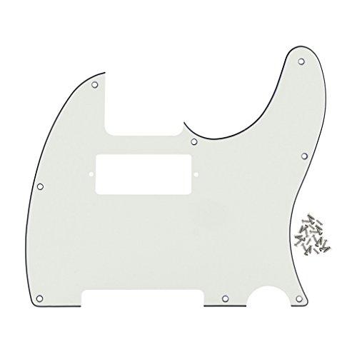 FLEOR 8-Loch-Frontplatte, Mini-Humbucker-Schlagbrett für Telecaster-Gitarren, Ersatz 3 ply, ivory white (1x8 Frontplatte)