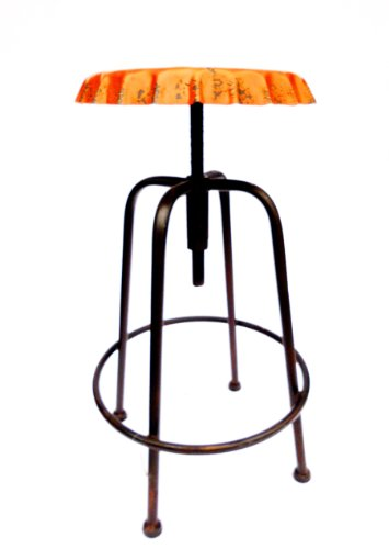 barhocker-metal-thresenhocker-drehstuhl-im-kronkorken-look-industrial-style-orange-hohenverstellbar