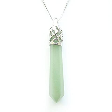 Chakra Reiki Pointed Crystal Pendant Amulet / Talisman Necklace, Bella Jade