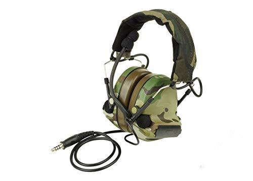 The Mercenary Company Elektronischer Gehörschutz und Headset, geschlossene Ohren, Multicam Surefire Batterie