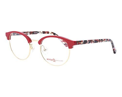 Etnia Barcelona Brille (SETUBAL RDGD) Acetate Kunststoff - Metall rot - marmor stil rot