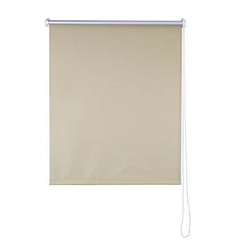 SHINY HOME Stores Enrouleur Isolant Thermique Store Occultant Rideaux pour Fenêtres Montage Simple - (L x H)80cm x 175 cm - Beige