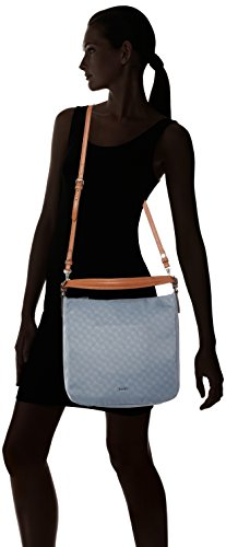 JOOP - Nylon Cornflower Dina Hobo Lvz, Borsa a mano Donna Blu (Light Blue)