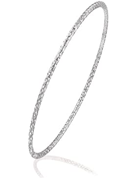 Citerna Damen Armreif 9 Karat (375) Weißgold Diamantschliff 6,5cm