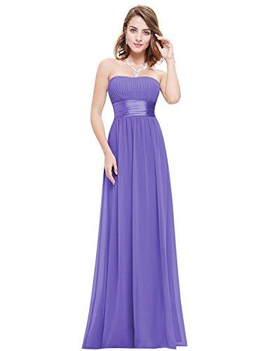 Ever Pretty Damen Empire Taille Schulterfrei Lange Abendkleider Brautjungfernkleid 36 Größe...