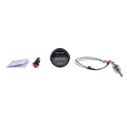 D DOLITY 1 Stück Abgastemperaturanzeige Auto 52mm Abgastemp Sensorlänge: 120 cm/47 Zoll Digitale Temperatur Meter - # 1