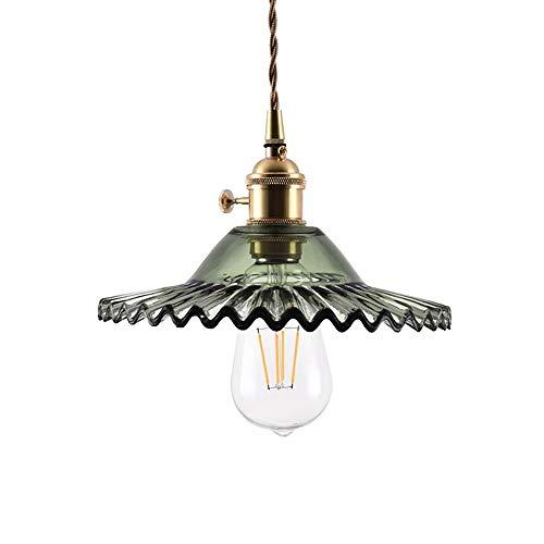 kleiner Regenschirm-Leuchter-industrieller Wind-Tee-Geschäft-Kaffeestube-Stab-einzelner Kopf-dekorative Glasbeleuchtung (Color : Green) ()
