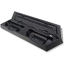Ventilador de refrigeración multifuncional para PlayStation 4 para PS4 Slim consola de juegos Soporte vertical Soporte de base base del soporte del muelle