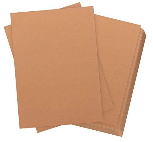 de 60 hojas Papel kraft DIN A4 320 g de calidad Absofine Naturkarton de alta calidad Brown Natural...