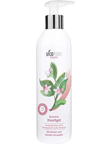 Frei Von Duftstoffen Gel Duschgel (VICOPURA Duschgel, basisch pH 7, 4, basische Reinigung für den Körper, ohne Konservierungsmittel, 250 ml)
