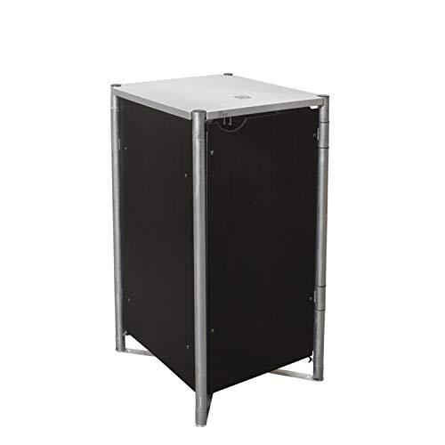 *Hide Mülltonnenbox, Mülltonnenverkleidung, Gerätebox schwarz // 60x63x115 cm (BxTxH) // Aufbewahrungsbox für 1 Mülltonne 140l*