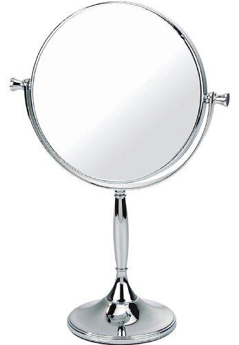 Kosmetik-Standspiegel 7-fache Vergrößerung 32 x 7,5 cm Chrom